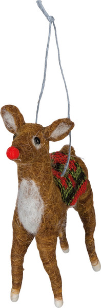 101086 Xmas Ornament - Reindeer - Set Of 6 By Primitives by Kathy