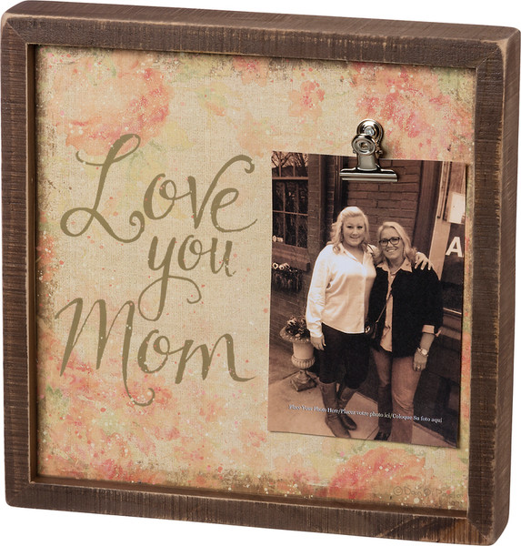 101115 Inset Box Frame - Love You Mom - Set Of 2 By Primitives by Kathy
