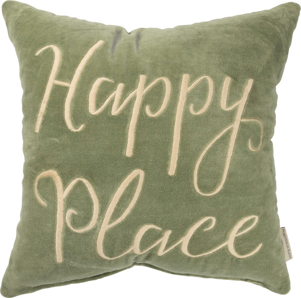 101129 Pillow - Happy Place - Set Of 2 By Primitives by Kathy