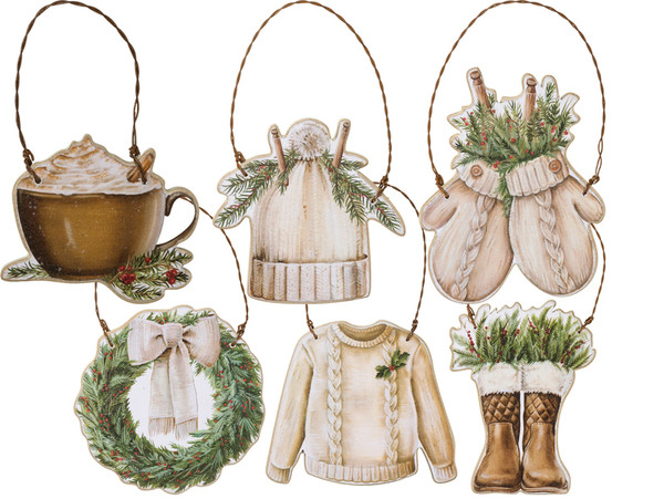 101138 Xmas Ornament Set - Christmas - Set Of 2 By Primitives by Kathy