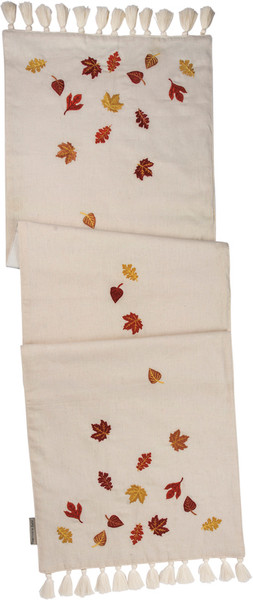101181 Runner - Falling Leaves - Set Of 2 By Primitives by Kathy