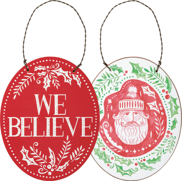 Xmas Ornament - Santa - Set Of 6 (Pack Of 3) 101200 By Primitives By Kathy