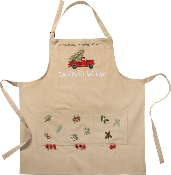 101317 Apron - Home For The Holidays - Set Of 2 By Primitives by Kathy