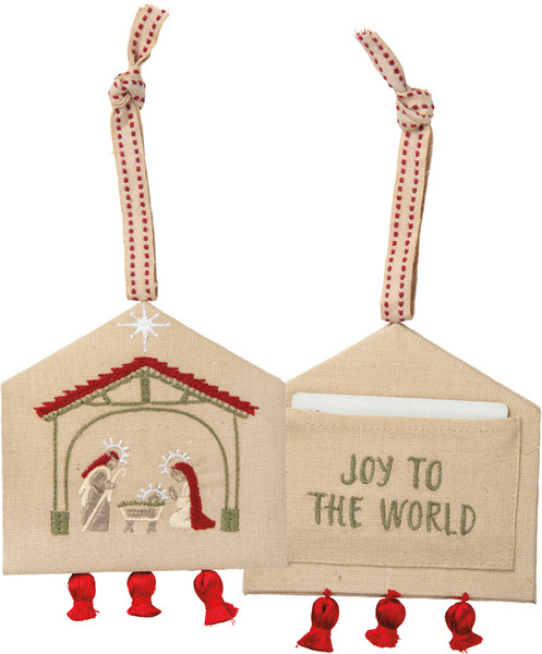 101331 Xmas Ornament - Joy To The World - Set Of 6 By Primitives by Kathy