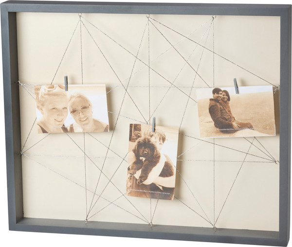 101570 Photo Frame - Gray String - Set Of 2 By Primitives by Kathy