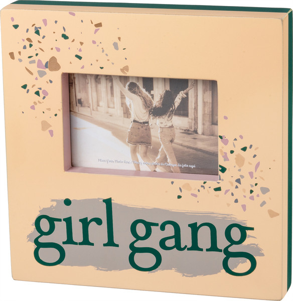 101626 Box Frame - Girl Gang - Set Of 2 By Primitives by Kathy