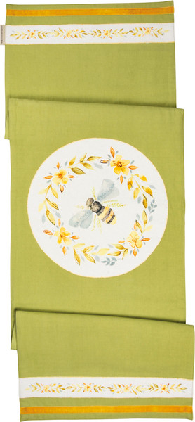101759 Runner - Bee - Set Of 2 By Primitives by Kathy