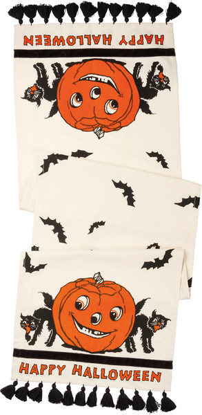 101773 Runner - Happy Halloween - Set Of 2 By Primitives by Kathy