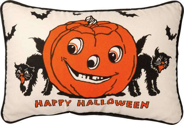 Pillow - Happy Halloween - Set Of 2 (Pack Of 2) 101774 By Primitives By Kathy