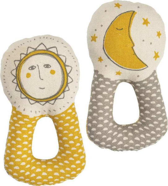 Rattle - Sun And Moon - Set Of 2 (Pack Of 2) 101827 By Primitives By Kathy