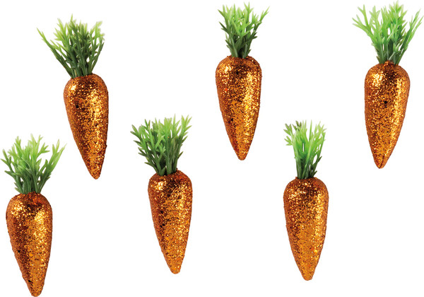 Glitter Carrots - Smallall - Set Of 4 (Pack Of 4) 102259 By Primitives By Kathy
