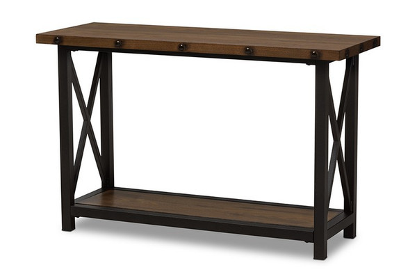 Herzen Black Metal/Wood Occasional Console Table CA-1117-ST (YLX-2680ST)