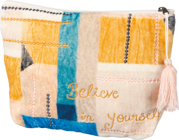 102463 Zipper Pouch - Believe - Set Of 4 By Primitives by Kathy
