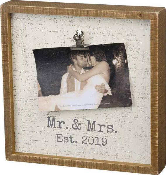 102483 Inset Box Frame - Est. 2019 - Set Of 2 By Primitives by Kathy