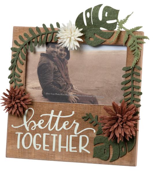 102555 Plaque Frame - Better Together - Set Of 4 By Primitives by Kathy