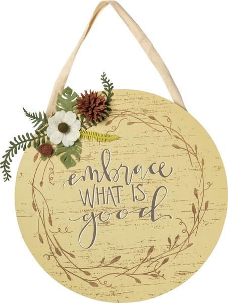 102558 Wall Decor - What Is Good - Set Of 2 By Primitives by Kathy