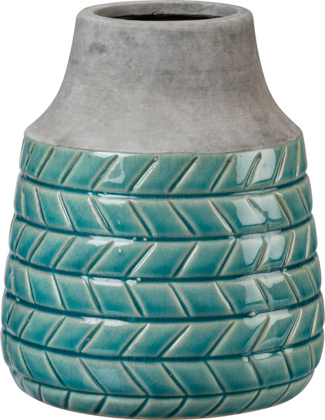 102882 Vase - Tall Turquoise - Set Of 2 By Primitives by Kathy
