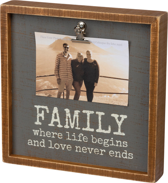 102952 Inset Box Frame - Family - Set Of 2 By Primitives by Kathy