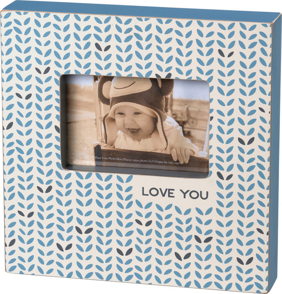 103230 Box Frame - Love You - Set Of 2 By Primitives by Kathy
