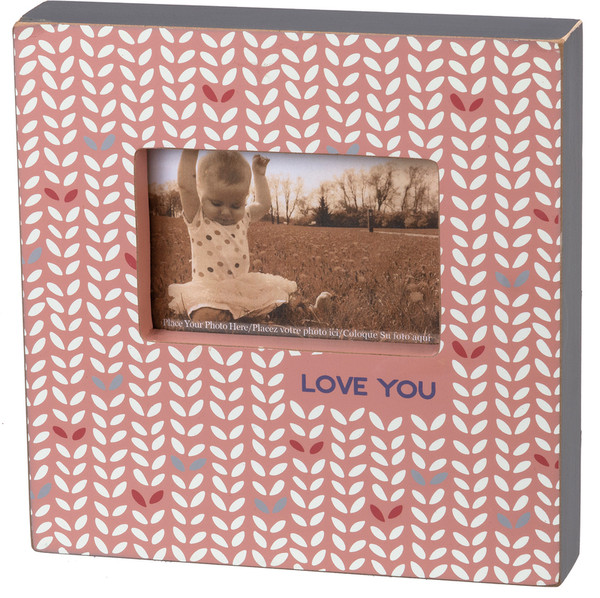 103231 Box Frame - Love You - Set Of 2 By Primitives by Kathy
