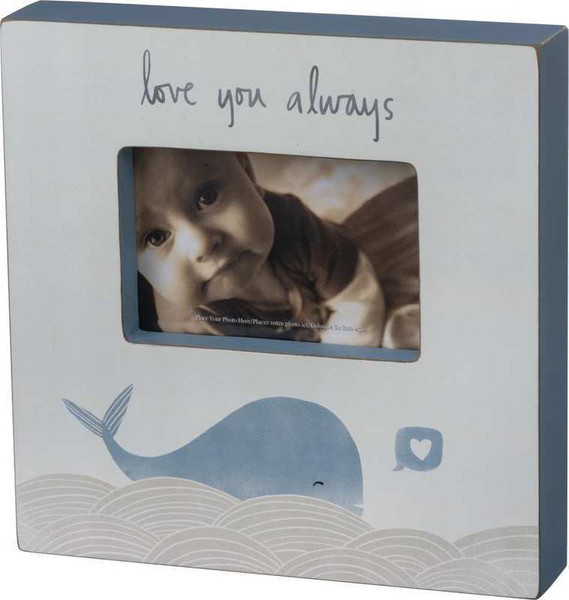103252 Box Frame - Love You Whale - Set Of 2 By Primitives by Kathy