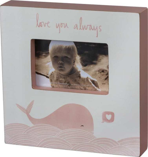 103253 Box Frame - Love You Whale - Set Of 2 By Primitives by Kathy