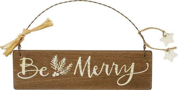 103417 Slat Xmas Ornament - Be Merry - Set Of 12 By Primitives by Kathy