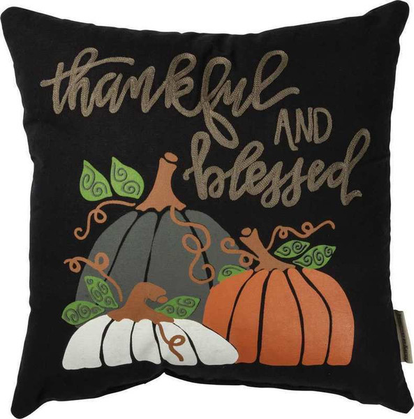 103474 Pillow - Thankful And Blessed - Set Of 2 By Primitives by Kathy