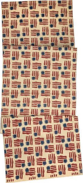 103971 Runner - Flag Toss - Set Of 2 By Primitives by Kathy