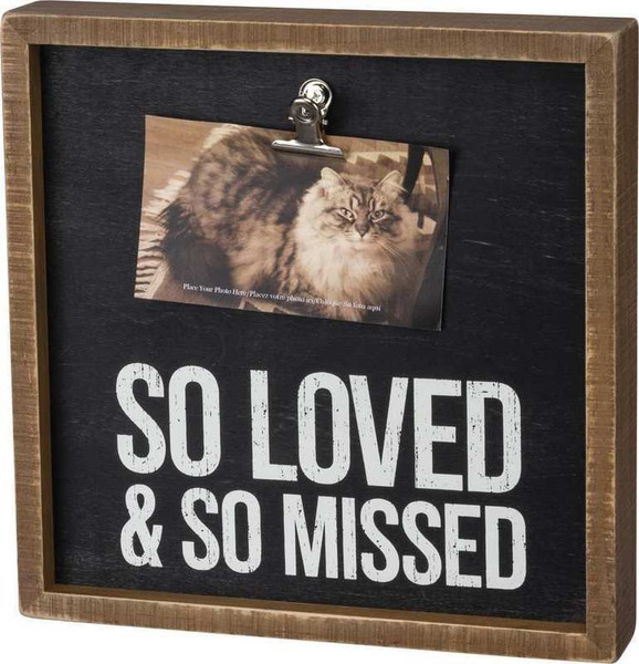 104078 Inset Box Frame - So Loved - Set Of 2 By Primitives by Kathy