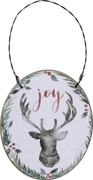 Xmas Ornament - Joy - Set Of 6 (Pack Of 3) 104161 By Primitives By Kathy