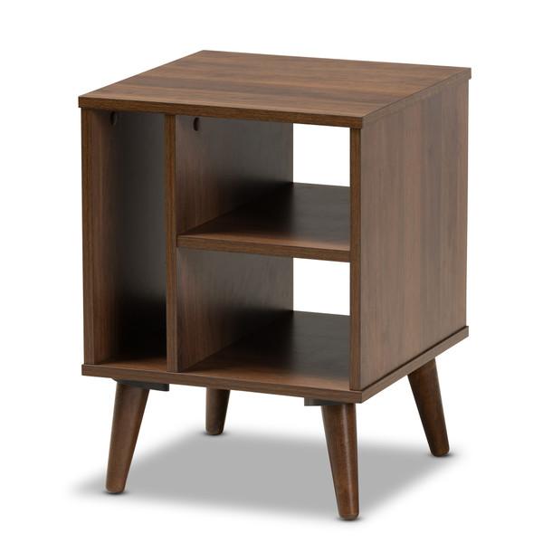 Baxton Sami Mid-Century Modern Walnut Finished Wood End Table ET8001-Columbia Walnut-ET