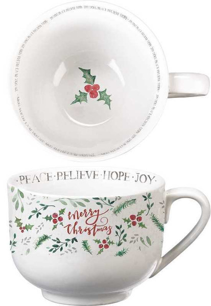 Mug - Merry Christmas - Set Of 2 (Pack Of 2) 104199 By Primitives By Kathy