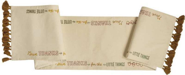 104209 Runner - Give Thanks - Set Of 2 By Primitives by Kathy
