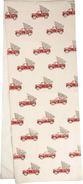 104219 Runner - Truck & Tree - Set Of 2 By Primitives by Kathy