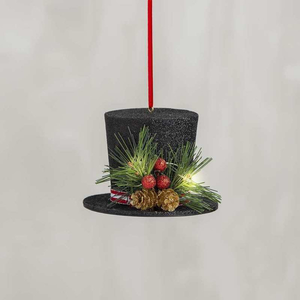 104271 Xmas Ornament - Top Hat - Set Of 6 By Primitives by Kathy