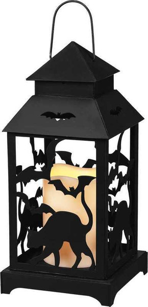 104275 Lantern - Cat & Crows - Set Of 2 By Primitives by Kathy