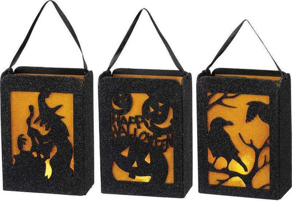 104276 Lantern Set - Halloween Bags - Set Of 2 By Primitives by Kathy