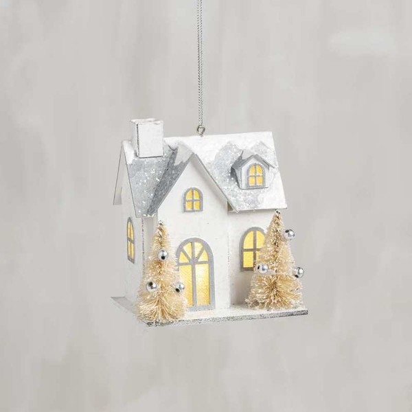 104282 Xmas Ornament - House - Set Of 6 By Primitives by Kathy