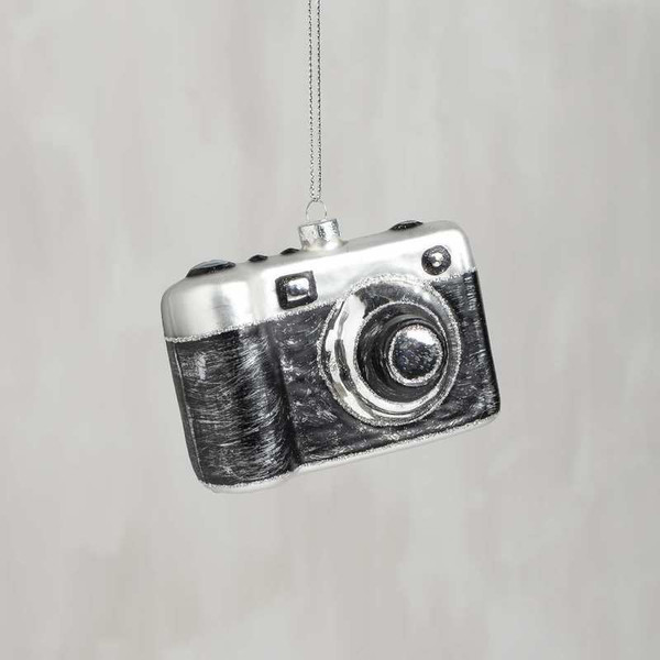 104287 Glass Xmas Ornament - Camera - Set Of 6 By Primitives by Kathy