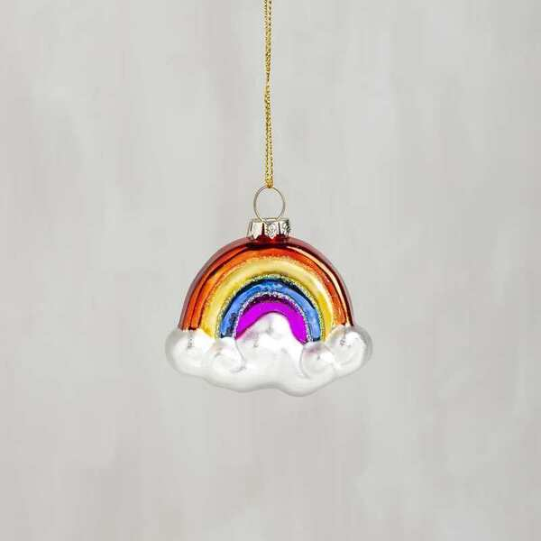 104291 Glass Xmas Ornament - Rainbow - Set Of 6 By Primitives by Kathy