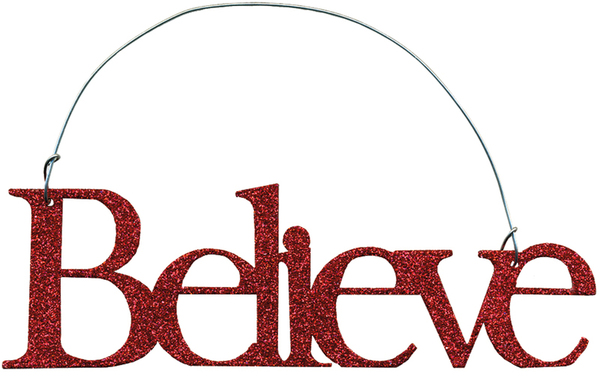 10541 Xmas Ornament - Believe Red - Set Of 12 By Primitives by Kathy