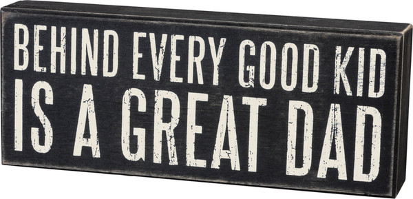 Box Sign - Great Dad - Set Of 2 (Pack Of 2) 17796 By Primitives By Kathy