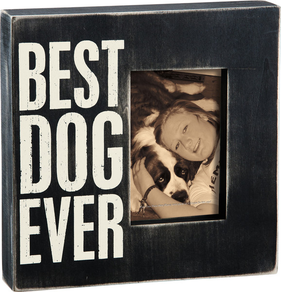 19136 Box Frame - Best Dog Ever - Set Of 2 By Primitives by Kathy