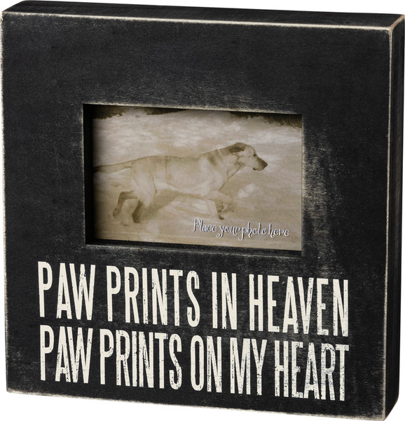 19137 Box Frame - Paw Prints - Set Of 2 By Primitives by Kathy