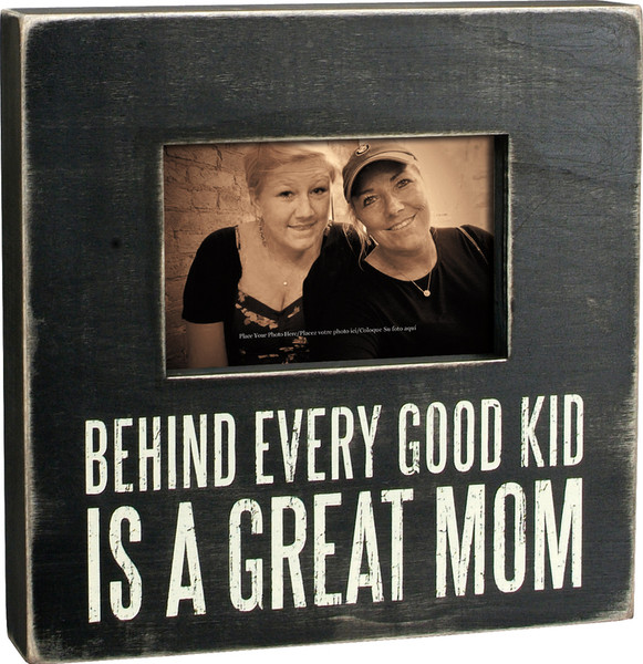 19248 Box Frame - Great Mom - Set Of 2 By Primitives by Kathy