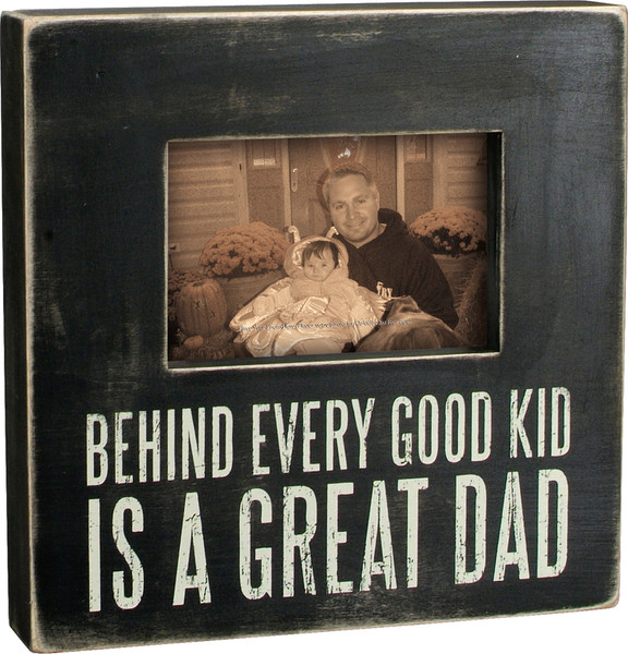 19249 Box Frame - Great Dad - Set Of 2 By Primitives by Kathy