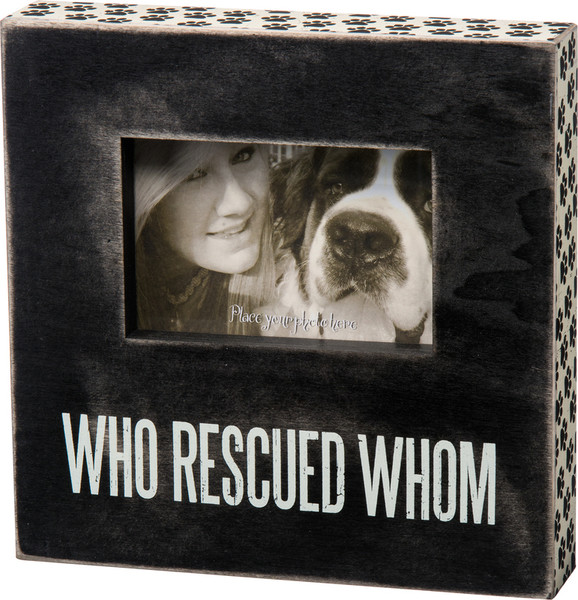 23058 Box Frame - Who Rescued Whom? - Set Of 2 By Primitives by Kathy