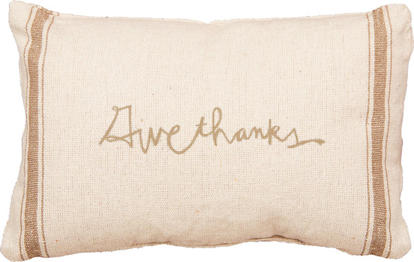 Pillow - Give Thanks - Set Of 2 (Pack Of 2) 23929 By Primitives By Kathy
