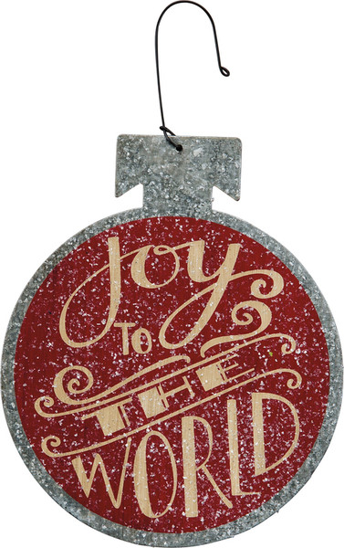 23947 Xmas Ornament - Joy To The World - Set Of 12 By Primitives by Kathy